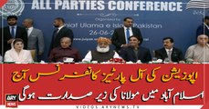 All Opposition Parties conference to be held by today under Maulana Fazal ur Rehman