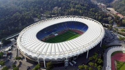 Stadium filmed by drone