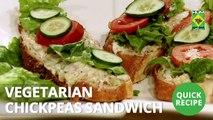 Vegetarian Chickpeas Sandwich | Quick Recipe | Masala TV