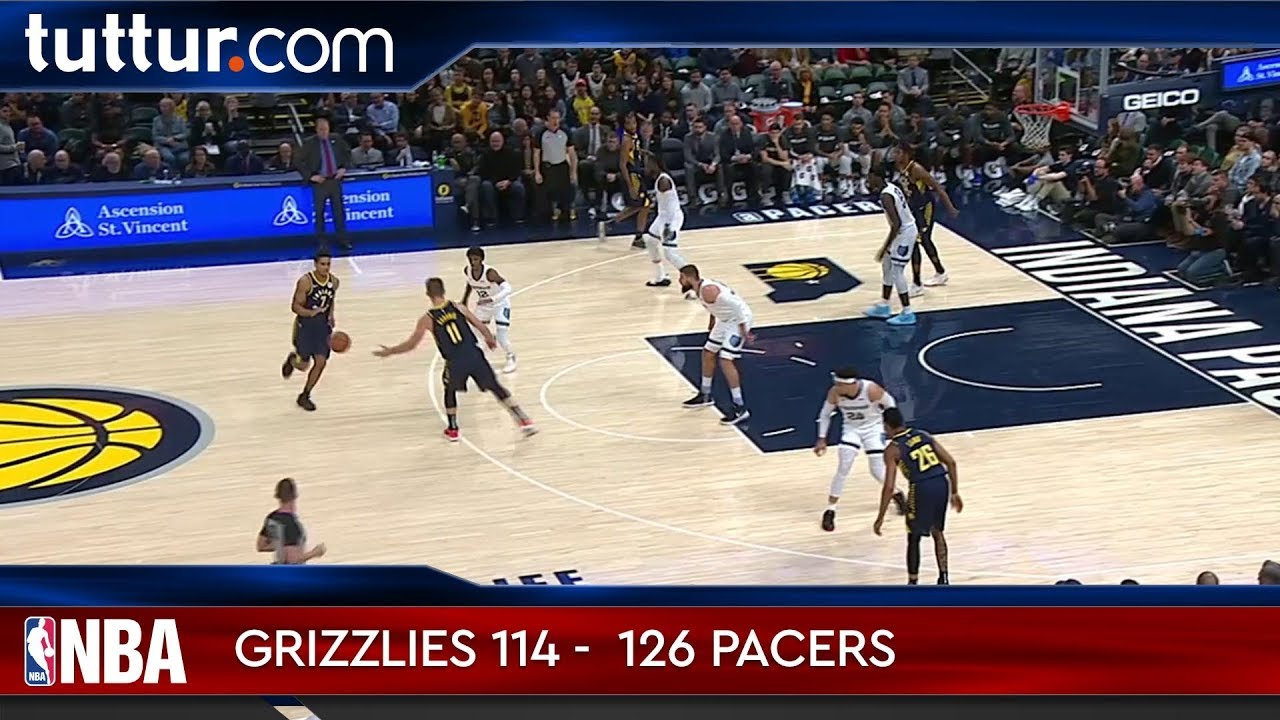 Memphis Grizzlies 114 - 126 Indiana Pacers