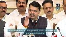 Devendra Fadnavis resigns as Chief Minister of Maharashtra