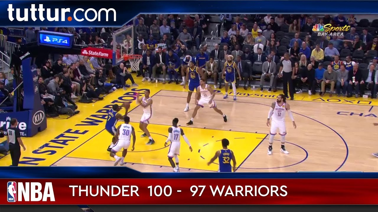 Oklahoma City Thunder 100 - 97 Golden State Warriors