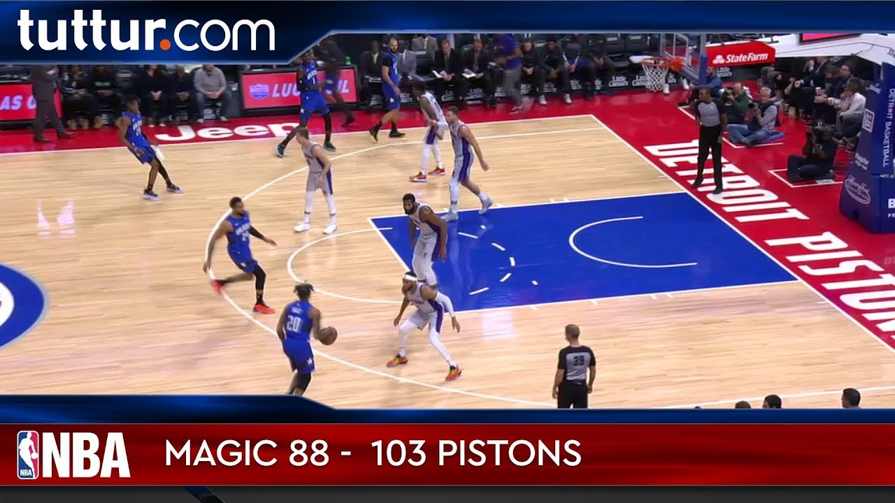 Orlando Magic 88 - 103 Detroit Pistons