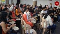 Bengaluru activists hold drum circle to raise awareness on gender violence