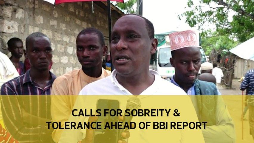 Calls for sobreity & tolerance ahead of BBI report