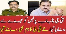 IG Punjab removed, Who became new of Punjab police
