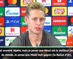 "Groupe F - De Jong : ""Messi doit gagner le Ballon d'Or"""