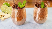 We're Head Over Heels For Frozen Cranberry Ginger-Lime Mule
