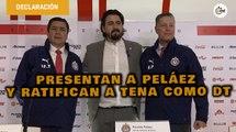En Chivas presentaron oficialmente a Peláez y ratificaron a Luis Fernando Tena como DT | Conferencia