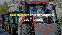 1 000 tracteurs vont débarquer à l'Arc de Triomphe