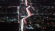 Thanksgiving Commuters Create Sea Of Lights Along L.A. Freeway