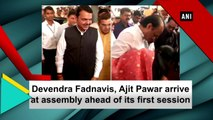 Devendra Fadnavis, Ajit Pawar arrive at assembly ahead of its first session