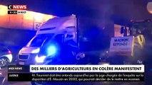 Manifestation des agriculteurs: Les agriculteurs, arrivés ce matin à Paris, bloquent les Champs-Elysées et demandent à être reçus par Emmanuel Macron