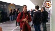 La Roma in partenza per Istanbul (27/11/2019)