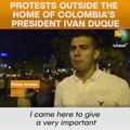 Protests Outside The Home Of Colombia's President Ivan Duque
