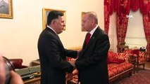Cumhurbaşkanı Erdoğan, Sarraj'ı kabulü sona erdi