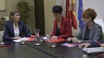 La presidenta de Navarra se reúne con EH Bildu