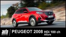 Peugeot 2008 Blue HDi 100 ch Allure ESSAI POV AUTO-MOTO.COM