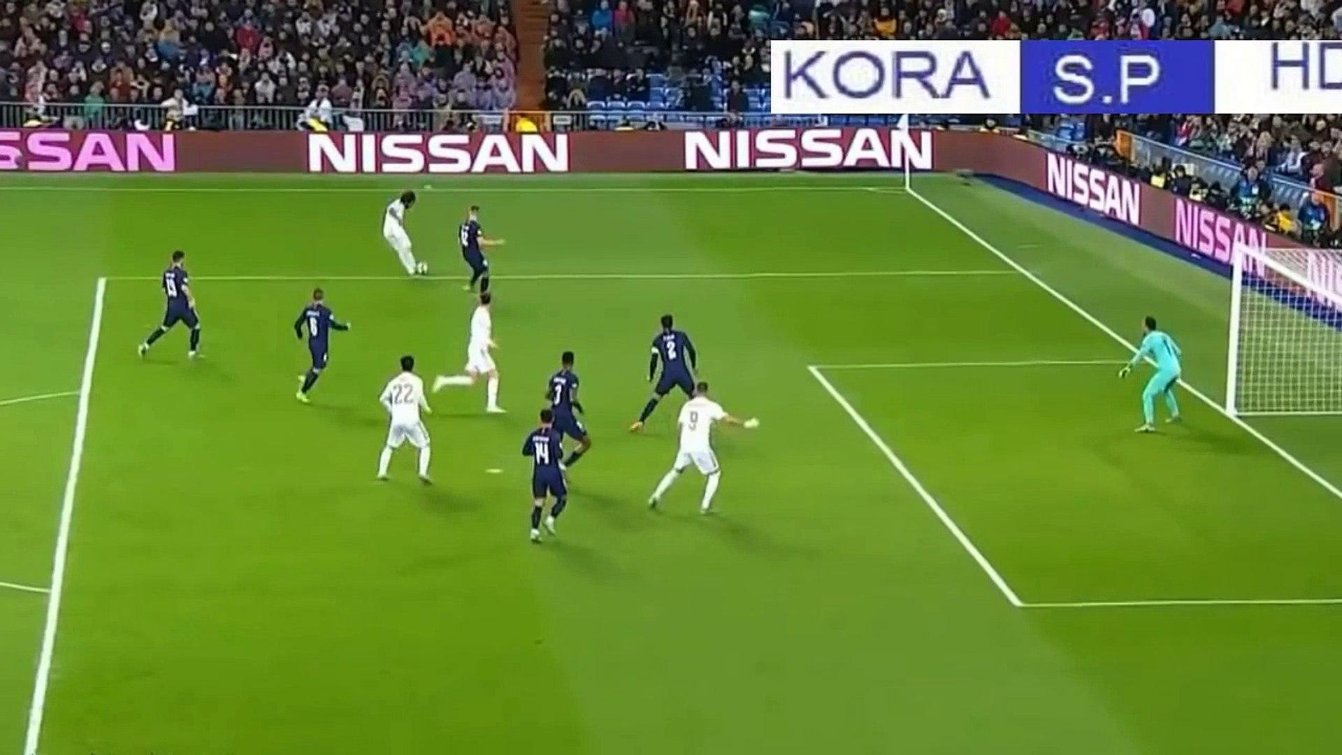 أهداف مباراة ريال مدريد وباريس سان جيرمان 2-2 مباراة قوية