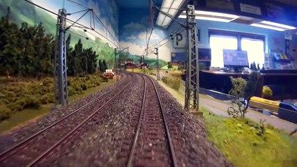 Voyage en cabine de train sur une maquette ferroviaire allemand à l'échelle H0 - Une vidéo de Pilentum Télévision - Modélisme ferroviaire, trains miniatures, maquettisme et chemin de fer