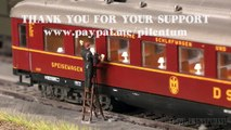 Trains en Allemagne: Locomotives à vapeur et locomotives diesel électriques à l'échelle H0