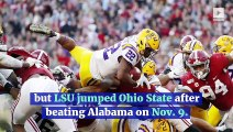 Ohio State Jumps LSU for No. 1 in Latest College Football Playoff Rankings