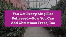 You Get Everything Else Delivered—Now You Can Add Christmas Trees, Too