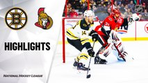 NHL Highlights | Bruins @ Senators 11/27/19