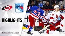 NHL Highlights | Hurricanes @ Rangers 11/27/19