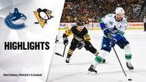 NHL Highlights | Canucks @ Penguins 11/27/19