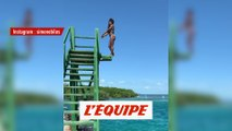 L'incroyable plongeon de Simone Biles - Gym - WTF