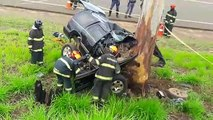 Motorista morre após colidir em árvore na estrada do Broa