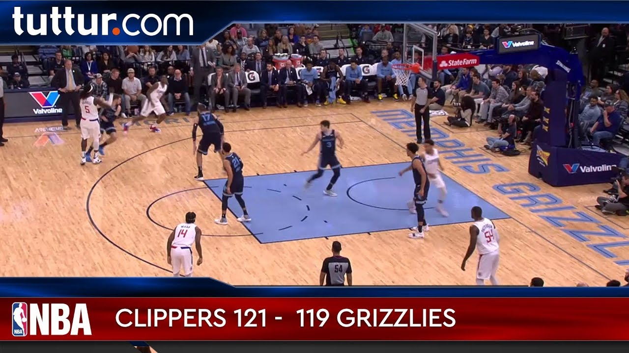 LA Clippers 121 - 119 Memphis Grizzlies