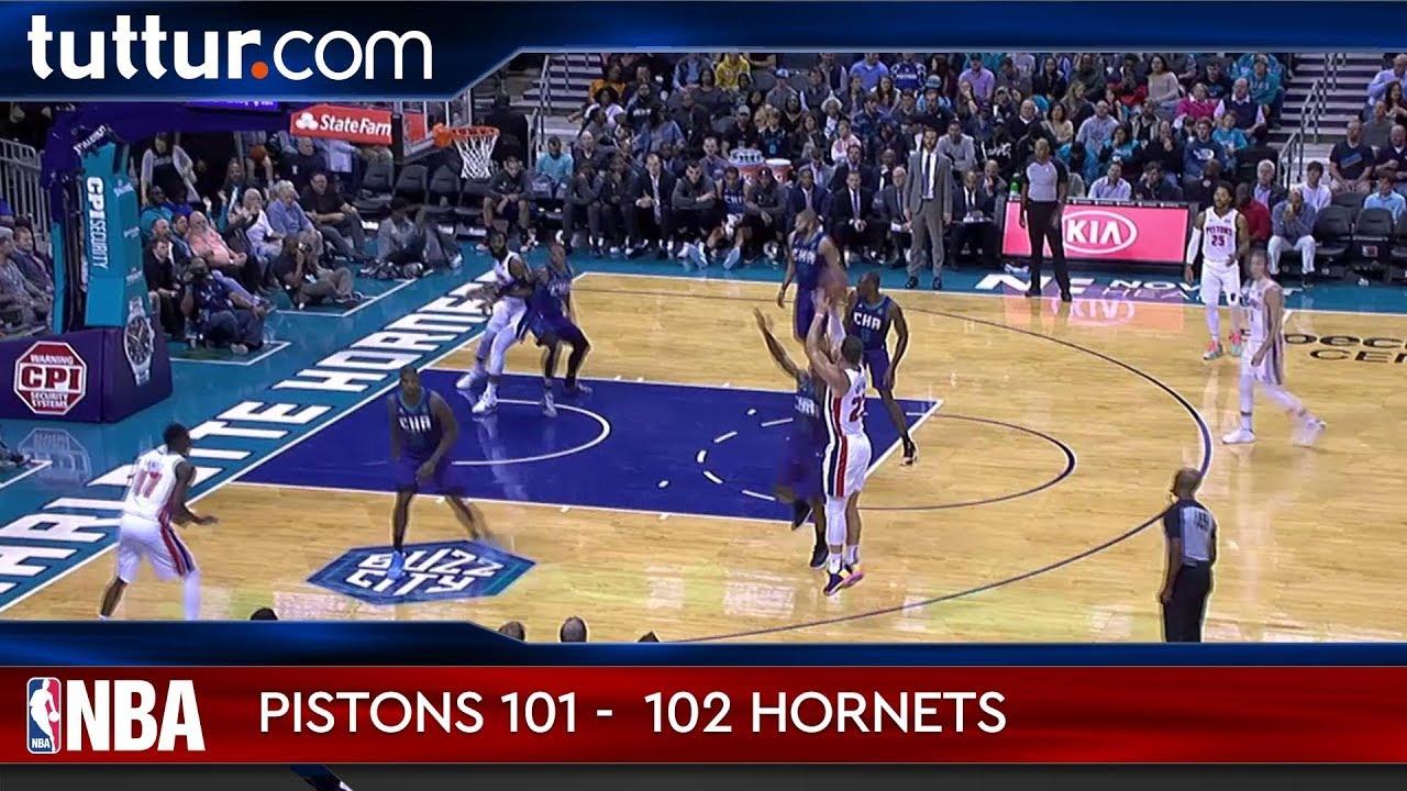 Detroit Pistons 101 - 102 Charlotte Hornets