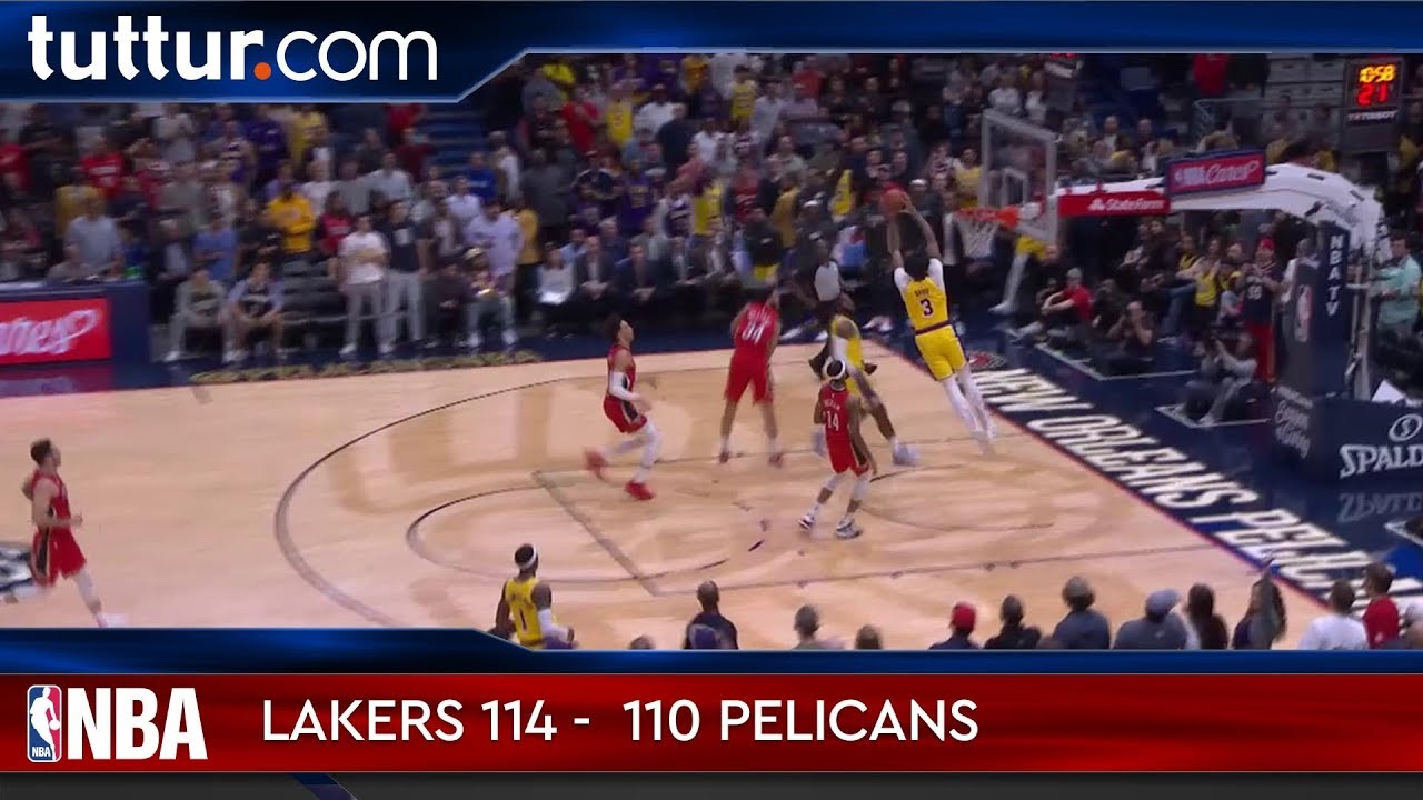 Los Angeles Lakers 114 - 110 New Orleans Pelicans