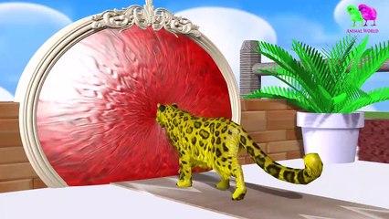 Los animales de granja y sus crías se transforman en animales salvajes y sus crías -8 parte 8