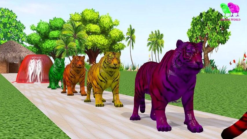 Los animales de granja y sus crías se transforman en animales salvajes y sus crías -22 parte 22