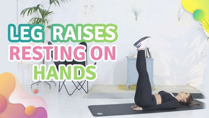 Leg raises resting on hands -  Step to Health