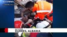 Dramático rescate bajo las ruinas de un hotel en Albania