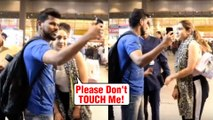 Sara Ali Khan Gets UNCOMFORTABLE As Male Fan Gets Too Close To Her At Mumbai Airport