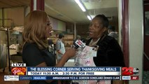 The Blessing Corner serving Thanksgiving meals to the community