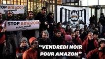 Contre le Black Friday, le siège d'Amazon France bloqué par des manifestants