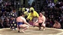 Aoiyama vs Hakuho - Kyushu 2019, Makuuchi - Day 10