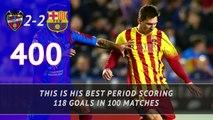 FOOTBALL: La Liga: Messi's 700 matches for Barca