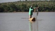 Fishermen worry for future as Mali lake shrinks