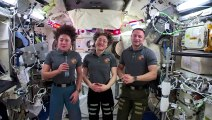 U.S. astronauts celebrate Thanksgiving in space