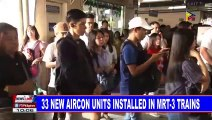 33 new aircon units installed in MRT-3 trains