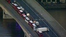 Aerials over London Bridge after 'terror-related' incident