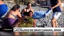اسپانیا؛ ورود غیرمنتظره قایق پناهجویان به جزایر قناری و کمک مردم