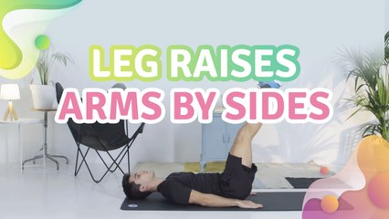 Leg raises, arms by sides - Step to Health